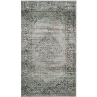 Safavieh Vintage Oriental Light Blue Distressed Silky Viscose Rug - 3'3 x 5'7