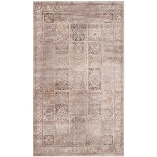 Safavieh Vintage Mouse Brown Distressed Panels Silky Viscose Rug (2'7 x 4')