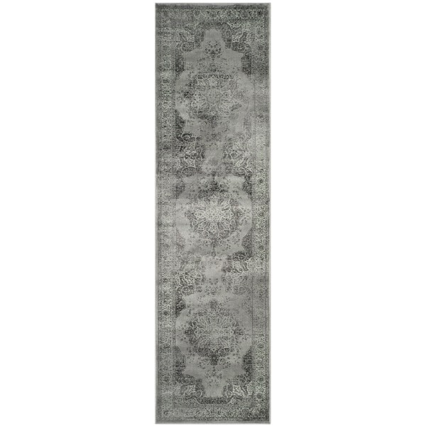 Safavieh Vintage Grey/ Multi Distressed Silky Viscose Rug (2'2 x 8')