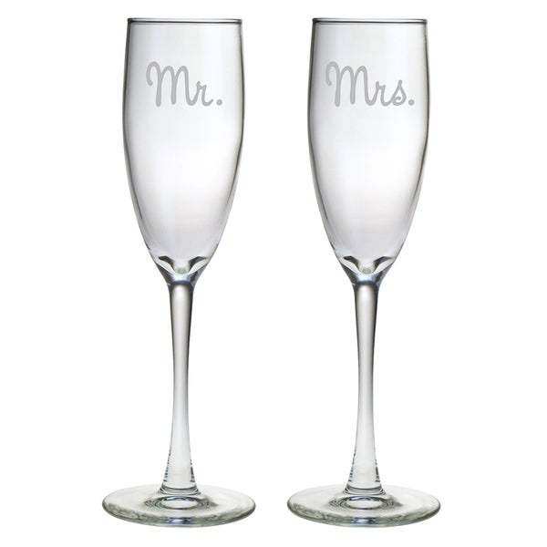 Shop Mr And Mrs Glass Toasting Flutes Set Of 2 On