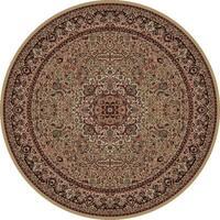 Concord Global Persian Classics Iris Gold  Round Rug - 5'3 x 5'3