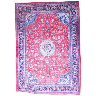 Herat Oriental Persian Hand-knotted 1960s Semi-antique Mahal Wool Rug (8'10 x 12'7)