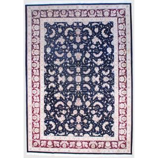Herat Oriental Sino Hand-knotted Tabriz Wool and Silk Rug (9'10 x 14')