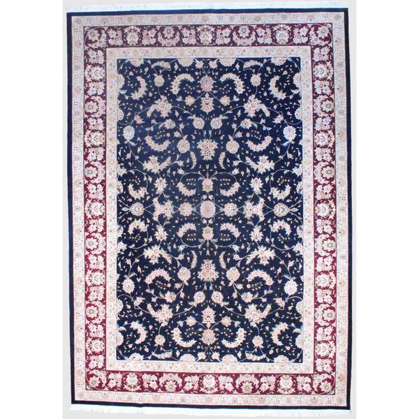 Herat Oriental Sino Hand-knotted Tabriz Wool and Silk Rug - 9'10 x 14'