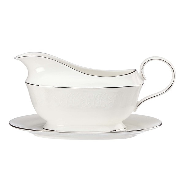 Lenox Hannah Platinum Sauce Boat and Stand - Free Shipping Today ...
