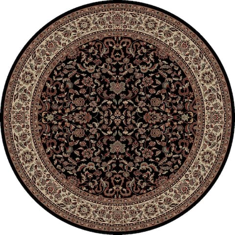 Concord Global Persian Classics Crystal Black Round Rug