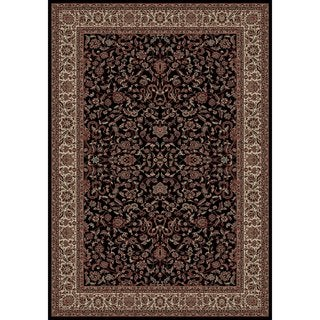 "Concord Global Persian Classics  Crystal Black Area Rug - 7'10"" x 11'2"""