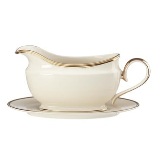 Lenox Eternal Sauce Boat and Stand