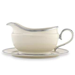 Lenox Solitaire Sauce Boat and Saucer