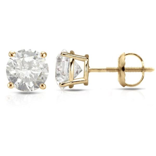 3514ffbad Auriya 1/2 to 2 carat TW Clarity Enhanced Diamond Stud Earrings 18k Yellow  Gold