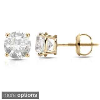 Auriya 18K Yellow Gold 1/2ct to 2ct TDW Clarity-Enhanced Diamond Solitaire Stud Earrings|https://ak1.ostkcdn.com/images/products/8207001/Auriya-18K-Yellow-Gold-1-2ct-to-2ct-TDW-Clarity-Enhanced-Diamond-Stud-Earrings-H-I-I2-I3-P15540016L.jpg?impolicy=medium