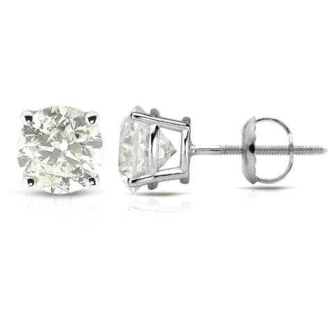 Auriya 1/2 to 1 1/2ctw Clarity Enhanced Diamond Stud Earrings Platinum
