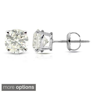 Auriya Platinum Clarity-Enhanced Diamond Earrings (J-K, I2-I3)