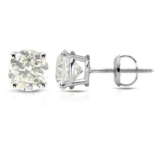 Auriya Platinum 1/2 to 1 1/2ct Clarity-Enhanced Diamond Solitaire Stud Earrings
