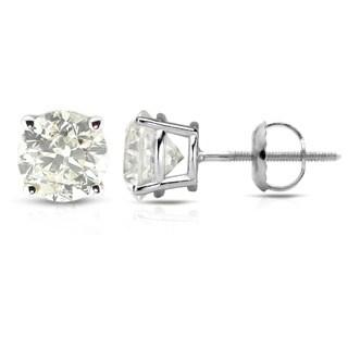 Auriya Platinum 1/2 to 1 1/2ct Clarity-Enhanced Diamond Solitaire Stud Earrings