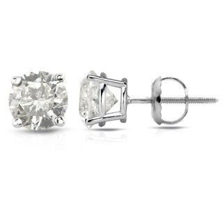 Auriya Platinum 1/2ct to 1 1/2ct TDW Clarity-Enhanced Diamond Screw-Back Earrings