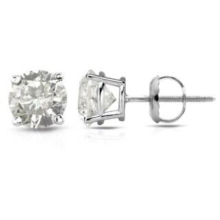 Auriya Platinum 1/2ct to1 1/2ct TDW Clarity-Enhanced Diamond Solitaire Stud Earrings