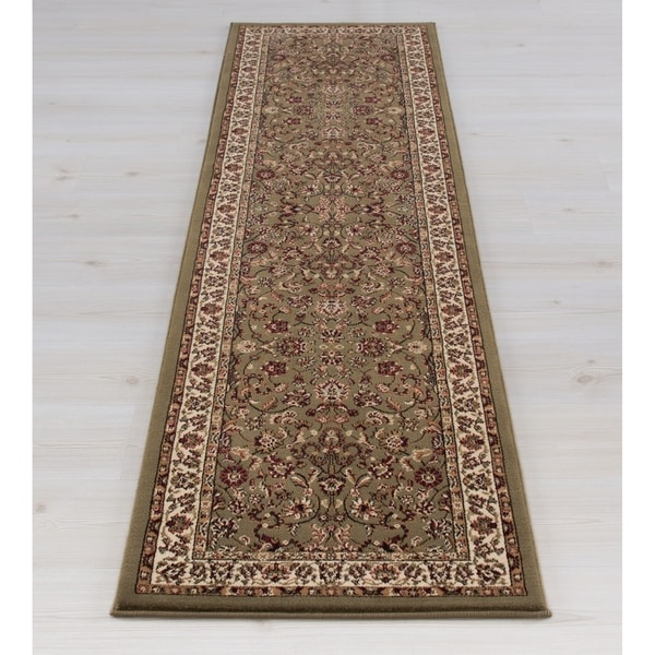 Concord Global Persian Classics Crystal Green Runner - 2' x 7'7