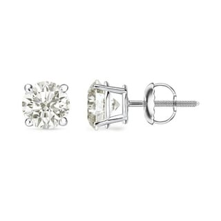 Auriya 18K White Gold Clarity-Enhanced Diamond Stud Earrings (J-K, I2-I3)