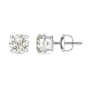 Auriya 18k White Gold 1/2-2ct. TW Clarity-Enhanced Diamond Solitaire Stud Earrings