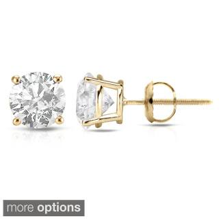 Auriya 18K Yellow Gold 1/2ct to 2ct TDW Clarity-Enhanced Diamond Solitaire Stud Earrings|https://ak1.ostkcdn.com/images/products/8207032/Auriya-18K-Yellow-Gold-1-2ct-to-2ct-TDW-Clarity-Enhanced-Diamond-Stud-Earrings-E-F-I2-I3-P15540019L.jpg?impolicy=medium