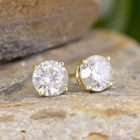 18K White Gold 1/2ct to 2ct TDW Clarity Enhanced Round Diamond Stud Earrings