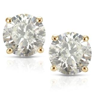 Link to Auriya 1/2ct to 2ctw Clarity-enhanced Diamond Stud Earrings 18k Yellow Gold Similar Items in Earrings
