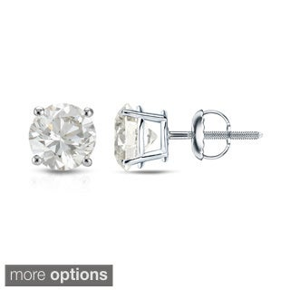 Auriya 14K White Gold Diamond Screw-Back Earrings (H-I, VS1-VS2)