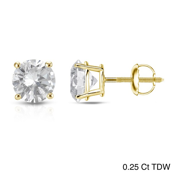 shop auriya 14k yellow gold 1 4ct to 1ct tdw round diamond. Black Bedroom Furniture Sets. Home Design Ideas