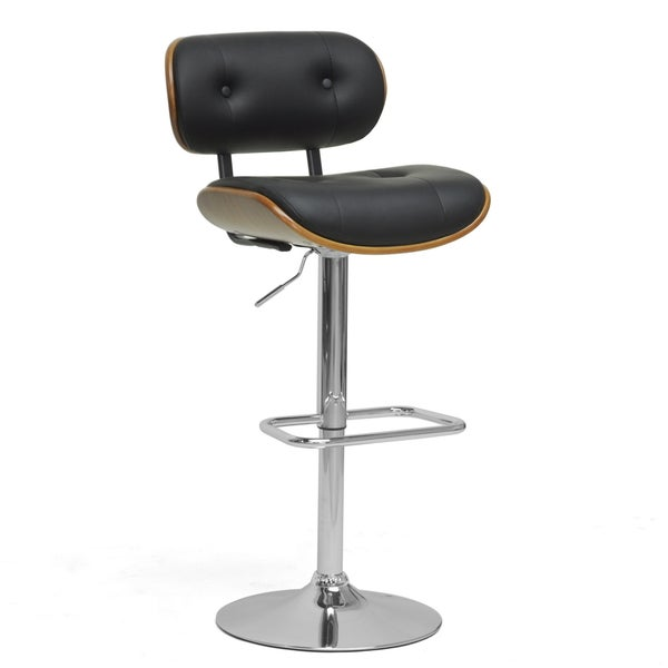Modern Brown and Black 24 32quot Adjustable Bar Stool by  : Leona Walnut and Black Modern Bar Stool 3f6a4700 a45c 430e 8f11 2f1d3089e5f6600 from www.overstock.com size 600 x 600 jpeg 10kB