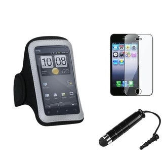 INSTEN Armband Phone Case / Stylus/ LCD Protector for Apple iPhone 5/ 5S/ 5C/ SE