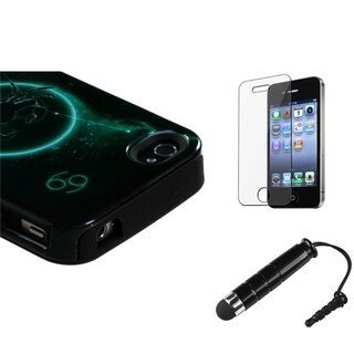 INSTEN Cancer Phone Case Cover/ Stylus/ LCD Protector for Apple iPhone 4/ 4S