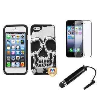 INSTEN Skullcap Phone Case Cover/ Stylus/ LCD Protector for Apple iPhone 5/ 5C/ 5S/ SE