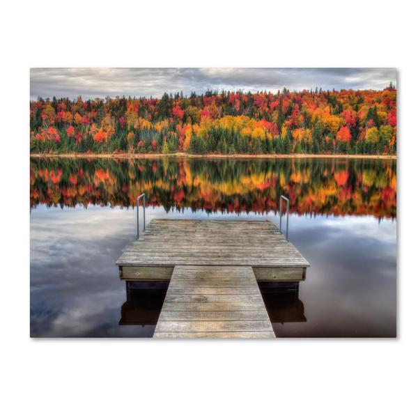 Pierre Leclerc 'Autumn' Canvas Art - Multi