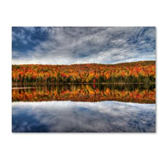 Pierre Leclerc 'Autumn Reflection' Canvas Art