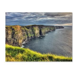 Pierre Leclerc 'Cliffs of Moher Ireland' Canvas Art