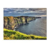 Pierre Leclerc 'Cliffs of Moher Ireland' Canvas Art - Multi