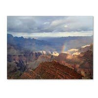 Pierre Leclerc 'Grand Canyon Rainbow' Canvas Art