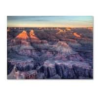 Pierre Leclerc 'Grand Canyon Sunset' Canvas Art