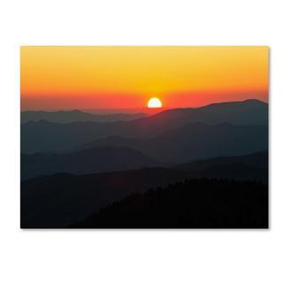 Pierre Leclerc 'Great Smoky Mountains Sunset' Canvas Art