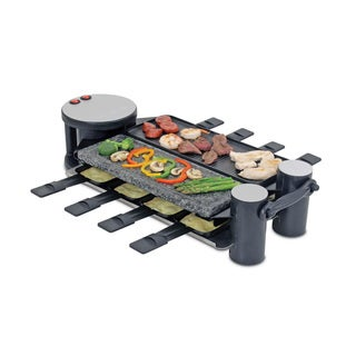 Swissmar KF-77073 Black/ Grey Swivel 8-person Raclette Party Grill