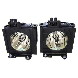 V7 Repl lamp Panasonic 4000HRS 300W ET-LAD55LW 2PK PT-D5500/D5600/DW5