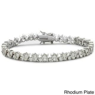 Simon Frank Hand Set Cubic Zirconia Tennis Bracelet