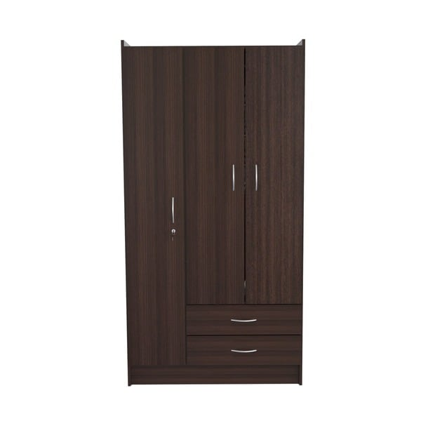 Inval 3 Door Espresso Armoire   Free Shipping Today   Overstock.com    15542756