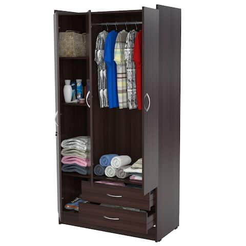 Carson Carrington Hammel 3-door Espresso Armoire