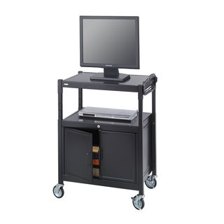 Safco Steel Adjustable AV Cart with Locking Cabine