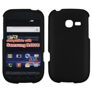 INSTEN Black Rubberized Phone Case Cover for Samsung R480C