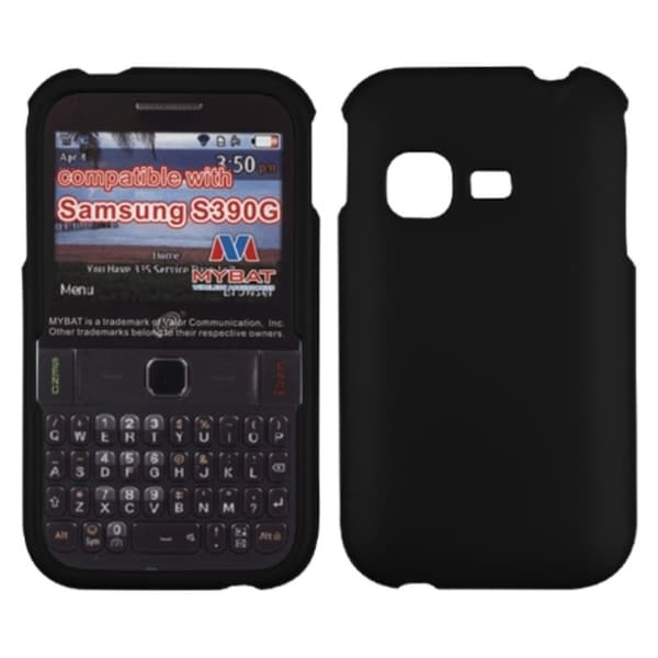 BasAcc Black Rubberized Case for Samsung S390G