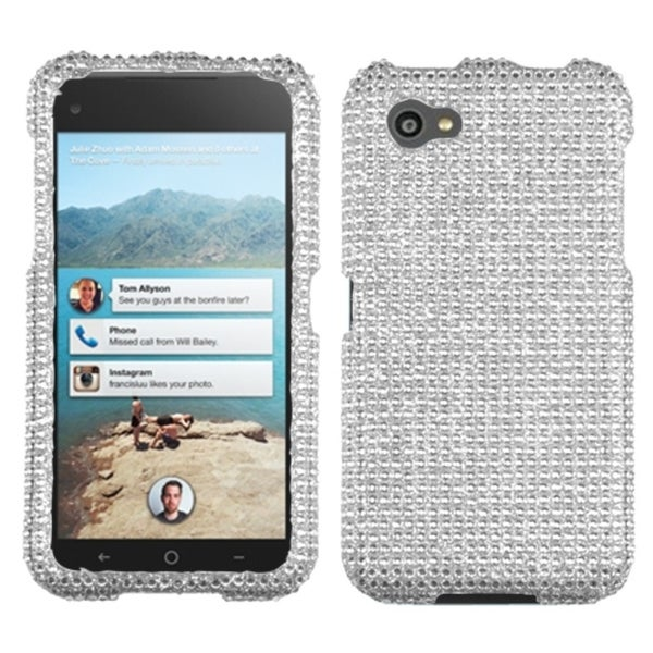 INSTEN Silver Diamante Phone Case Cover for HTC First