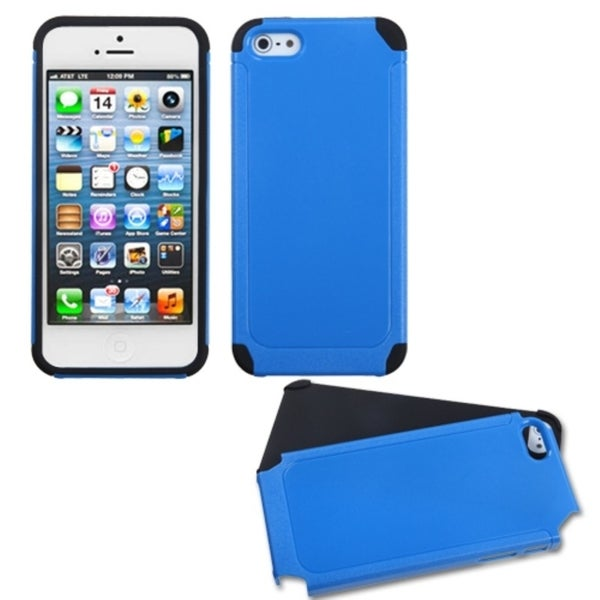 INSTEN Dark Blue/ Black Frosted Fusion Phone Case for Apple iPhone 5/ 5S/ SE